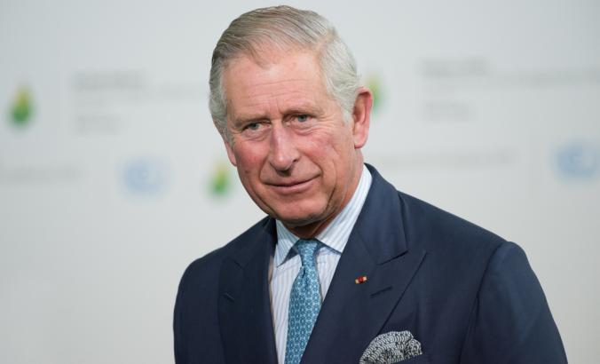 The Prince of Wales at the Paris COP21, also known as the United Nations Conference on Climate Change. Background is blurred