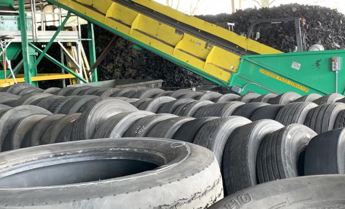 Waste tires