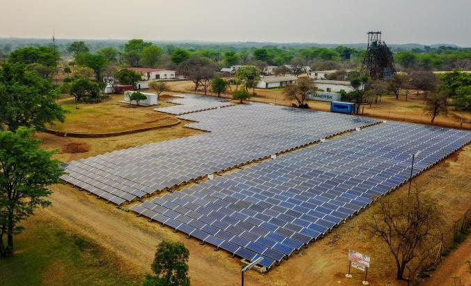 Solar panels in Zimbabwe