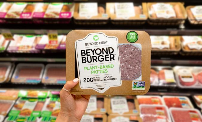 Beyond Meat in a grocery store