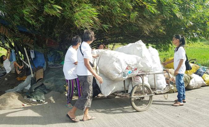 Plastic collectors in the Philippines