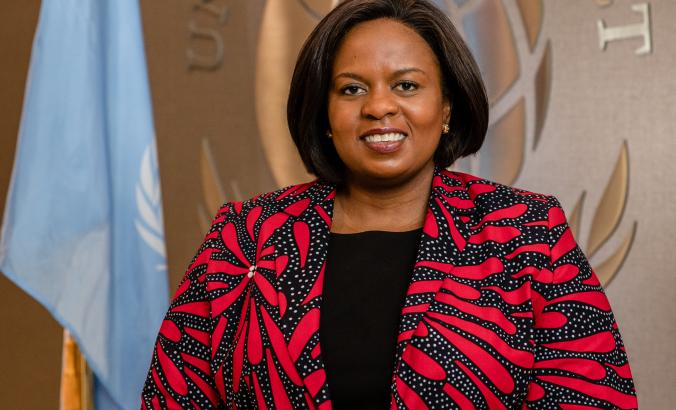 Sanda Ojiambo, CEO and executive director of the UN Global Compact