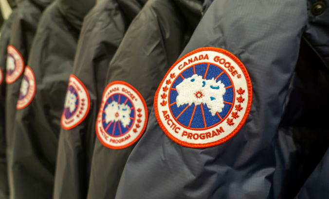 Canada Goose brand parkas in a store in New York